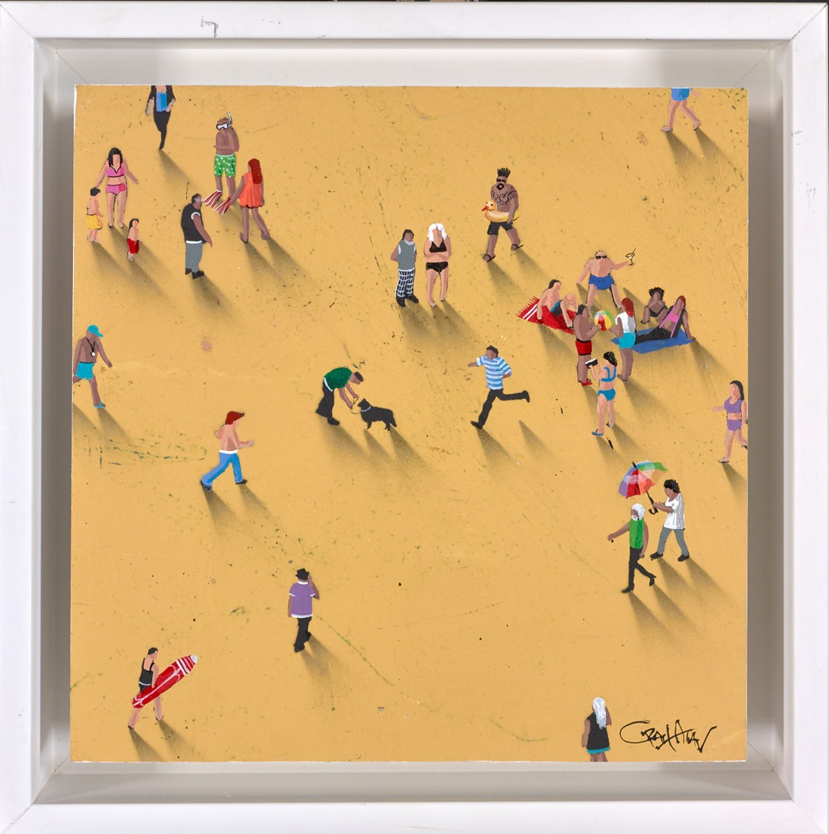 Beach Bums by craig alan -  sized 8x8 inches. Available from Whitewall Galleries
